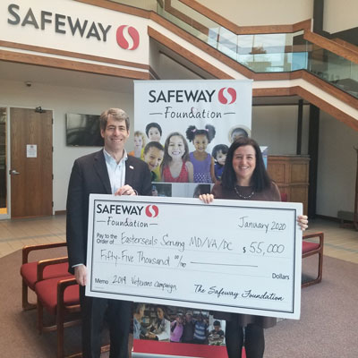 Safeway presents check for $50,000 to Easterseals President and CEO