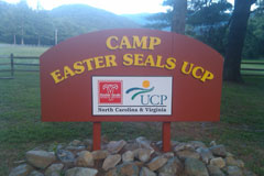 CAMP easter seals ucp sign