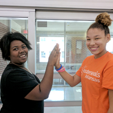 Easterseals SET for success students celebrate after a day's work