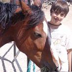 Campo de Oeste Boy and Horse 147x147 Ad Size