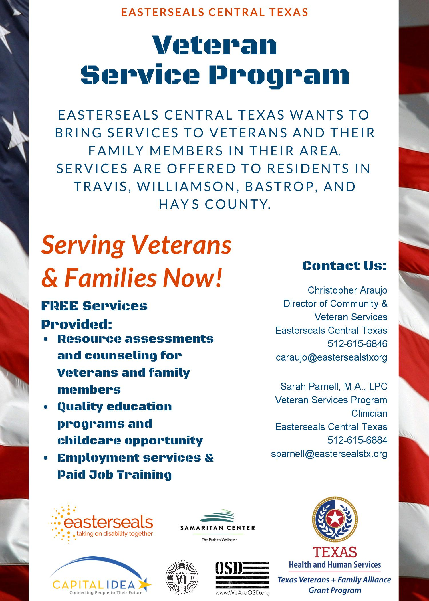 veteran service program flyer