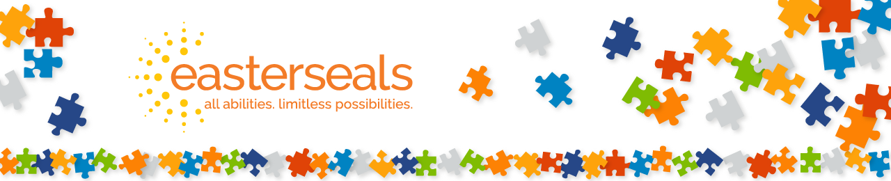 Slim banner new tagline logo with puzzle pieces