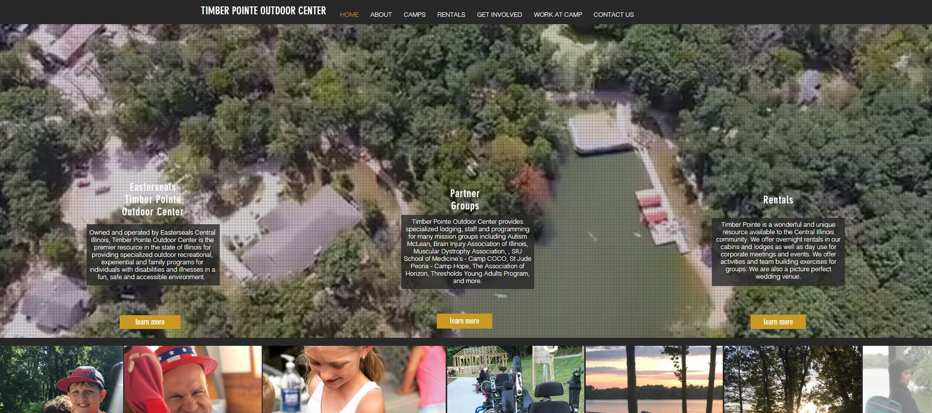 Timber Pointe Outdoor Center Website