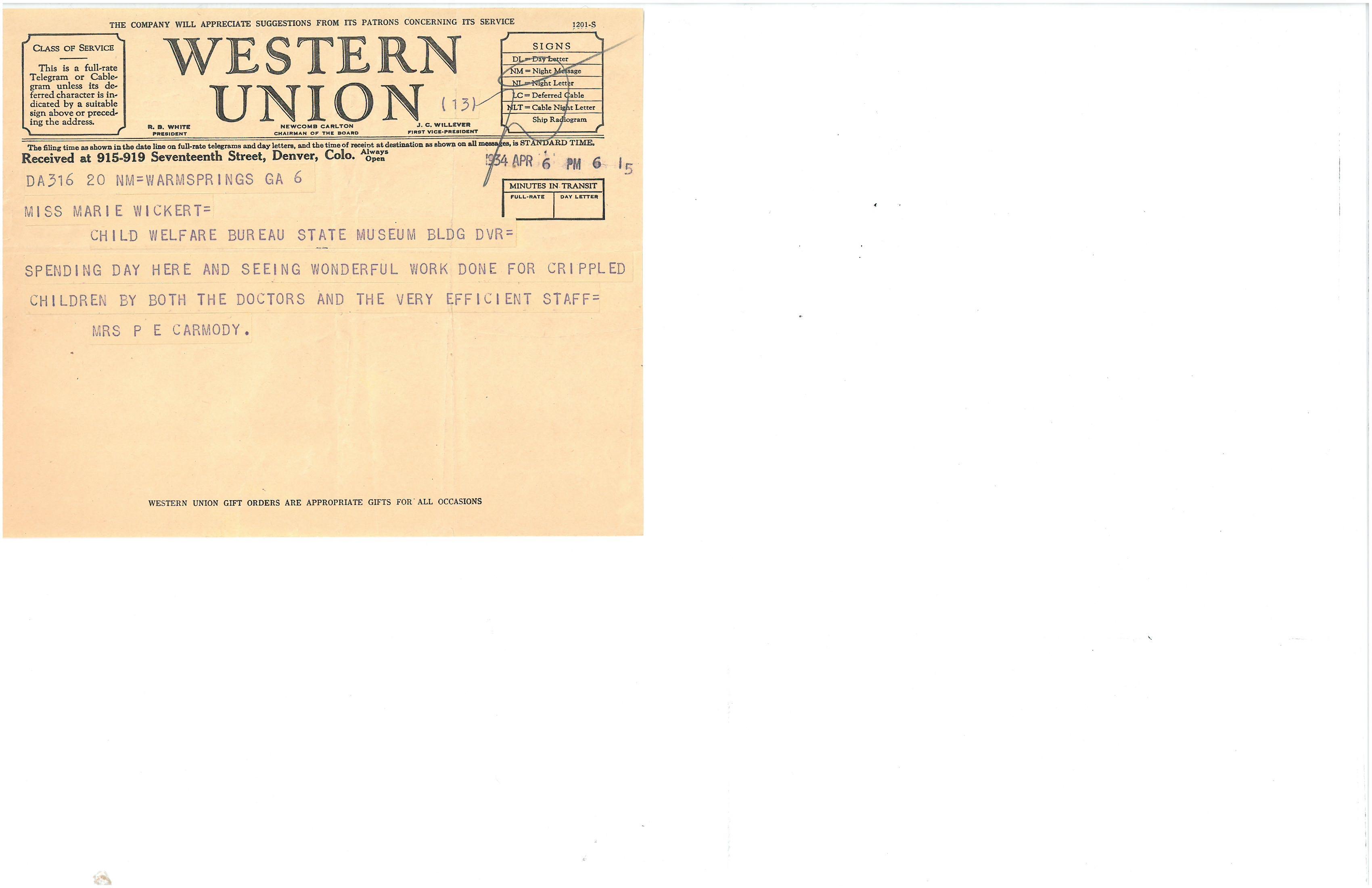 1934 Telegram