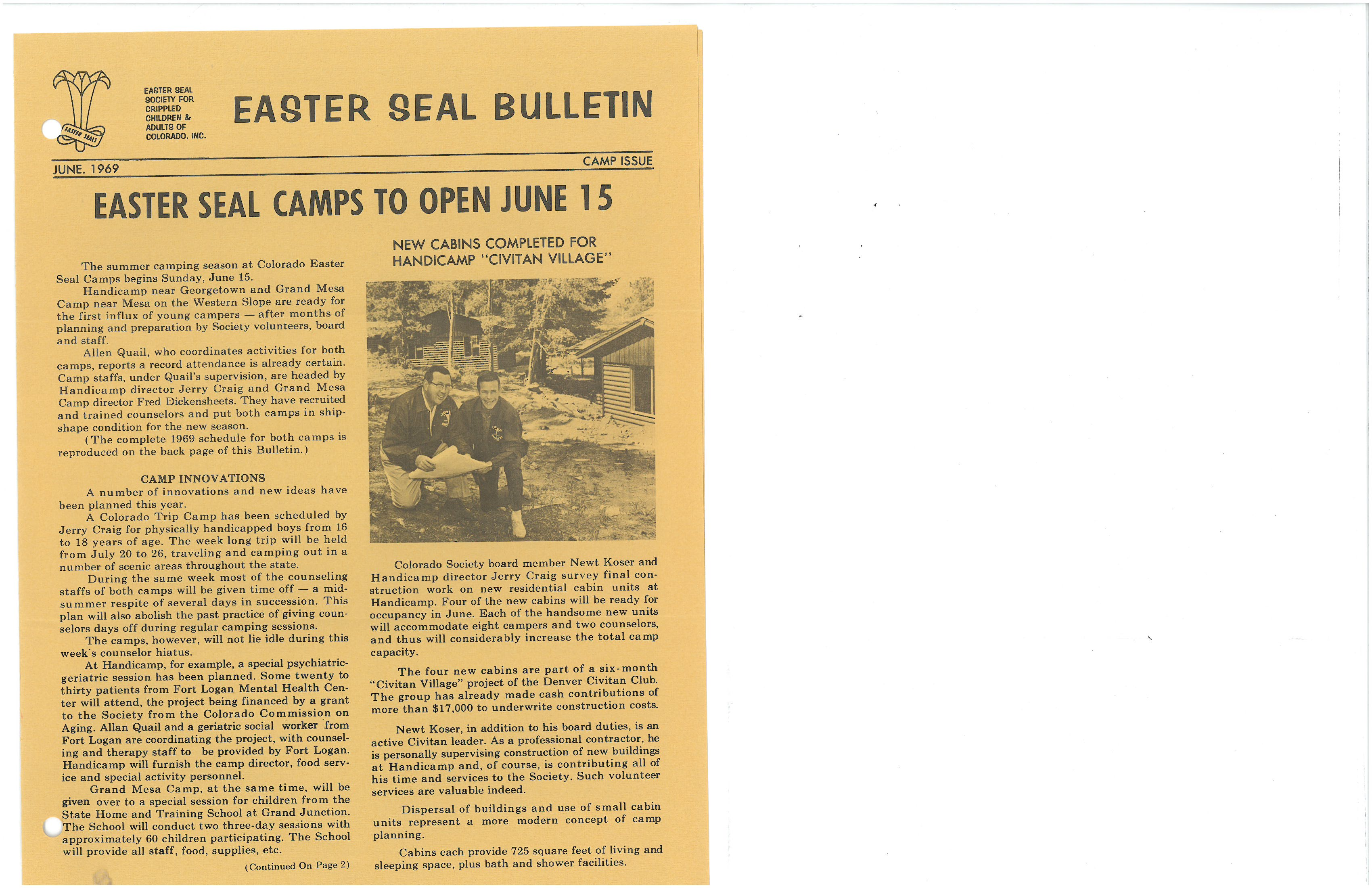 Camp Bullitine
