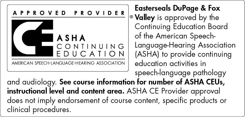 AHSA Continuing Education credits