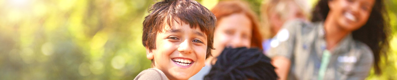 Boy smiling banner