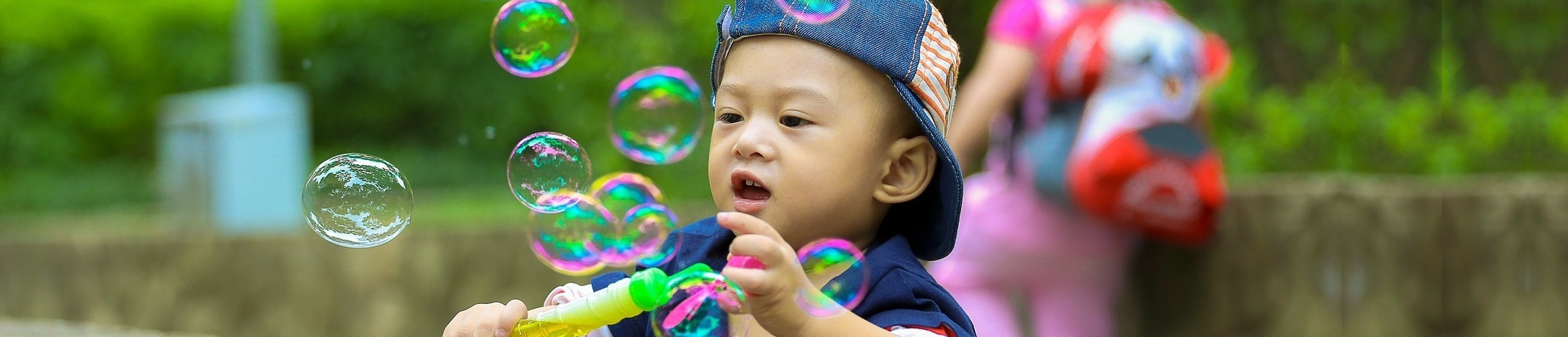 Boy With Bubbles Banner