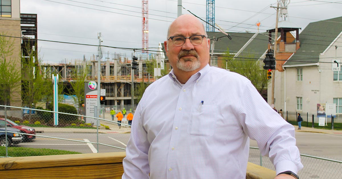 Bernie Suer at the Cincinnati Children's Hospital Medical Center Critical Care Building Project