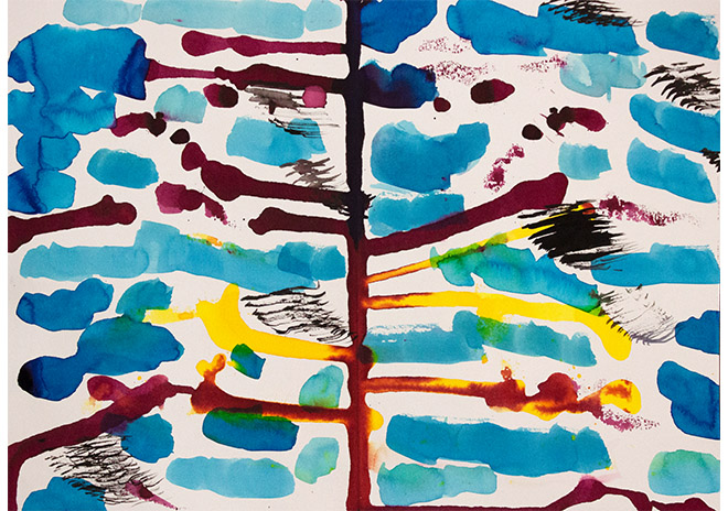 Cloud - art produced by Easterseals Opening Minds Through Art