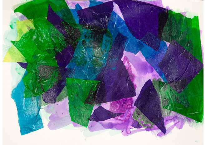 Mountains - art produced by Easterseals Opening Minds Through Art