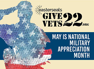 Give Vets 22:  May is National Military Appreciation Month