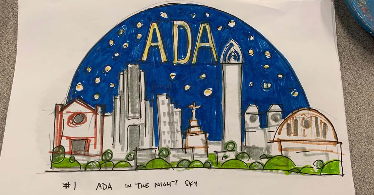 The ADA30 awards started with a concept drawing with