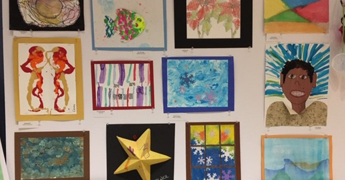 Collection of art made by participants in Easterseals Adult Day Services