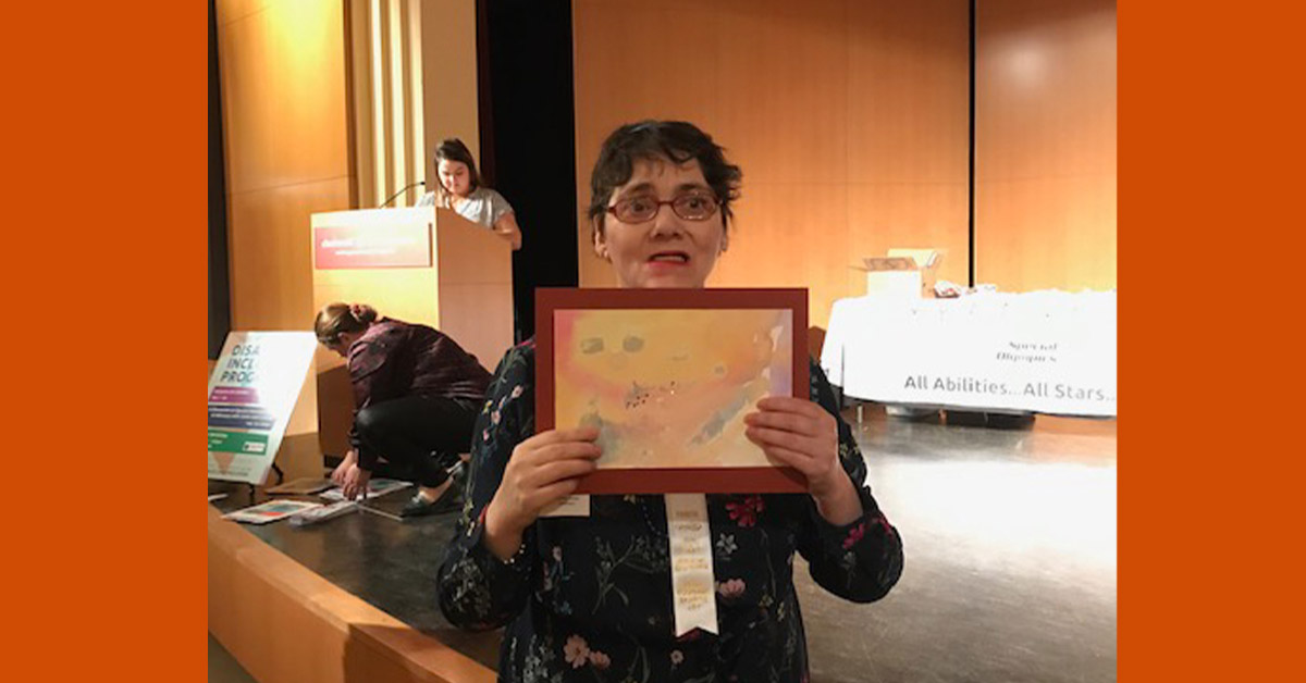 Easterseals Adult Day Services Participant recognized at Special Olympics Art Show