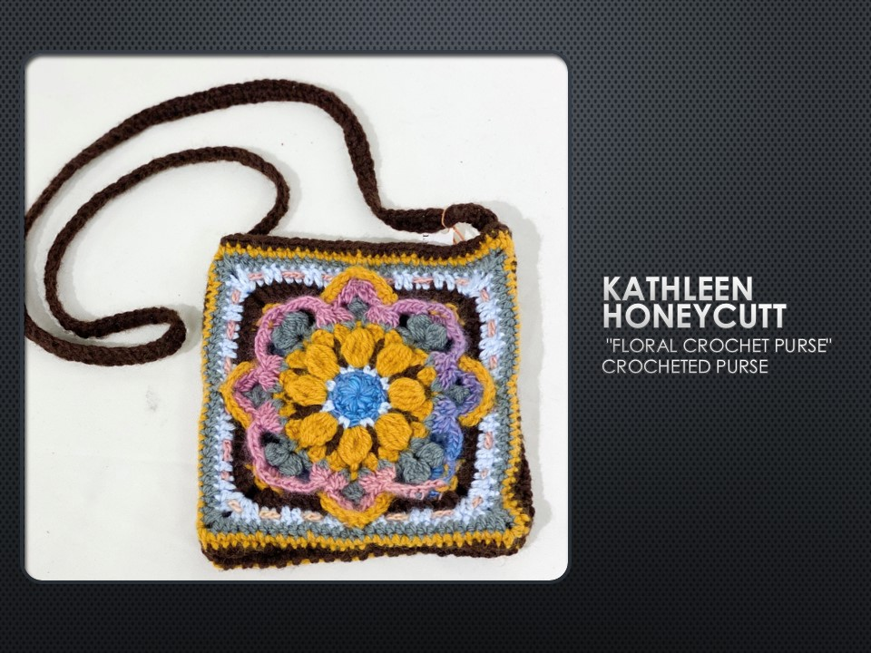 Floral Crochet Purse by Kathleen Honeycutt