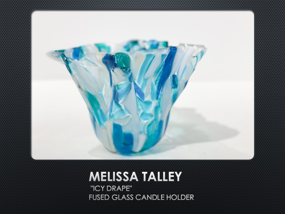 Icy Drape, fused glass by Melissa Talley