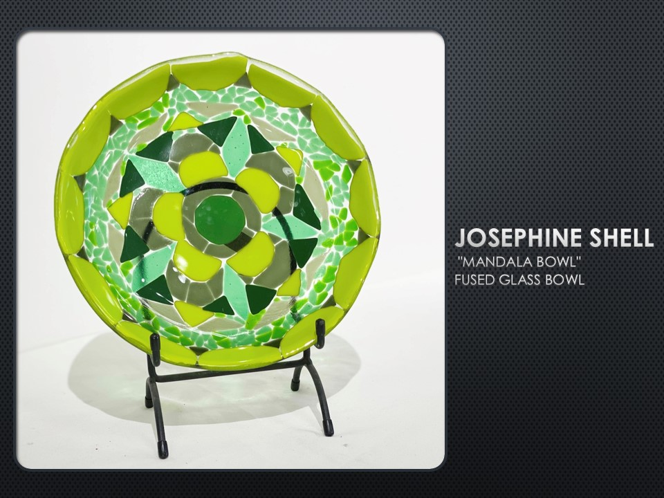 Mandala Bowl, fused glass bowl by Josephine Shell