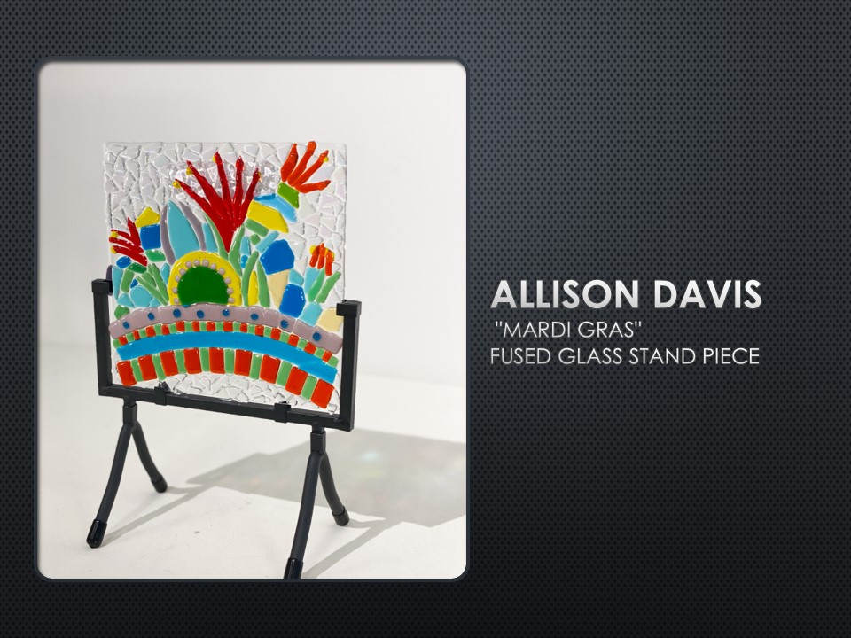 Mardi Gras, fused glass by Allison Davis