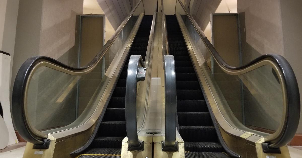 These escalators are now frozen in time.