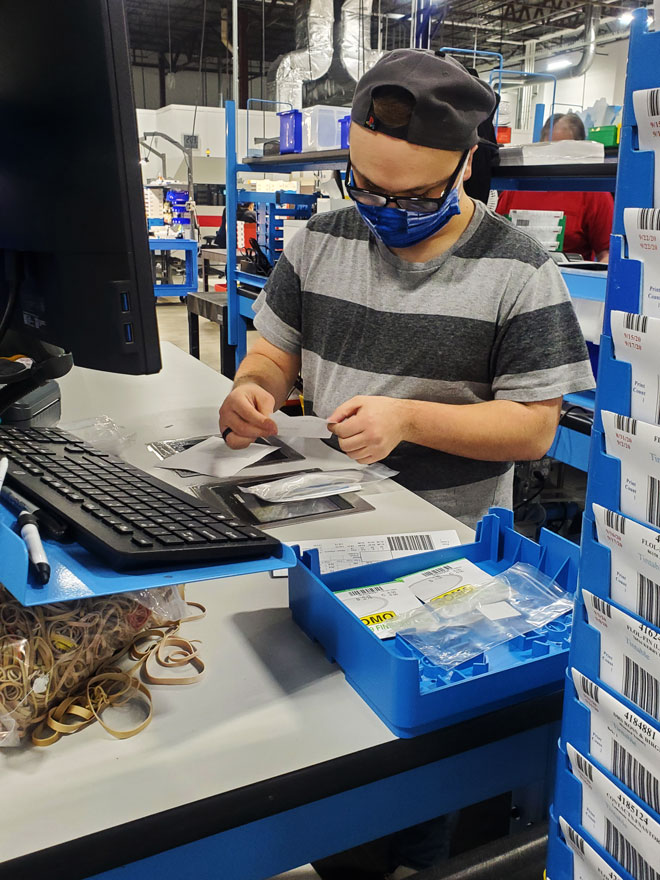 Sabin on the job at ABB Labs in Erlanger, Kentucky.