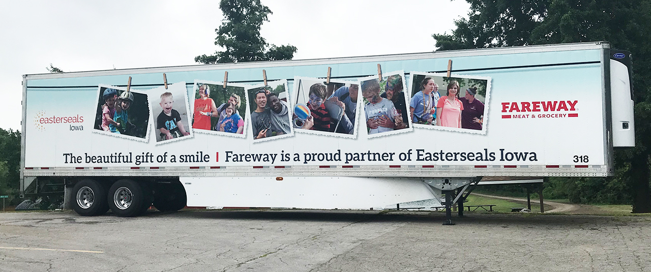 Fareway Truck Wrap with Camper Photos