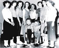 Al Buck with Nurses