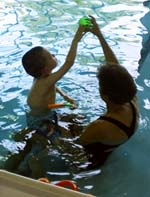 Easterseals client in pool therapy