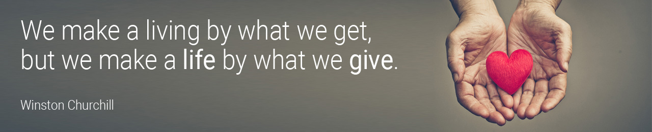 Giving - Churchill quote
