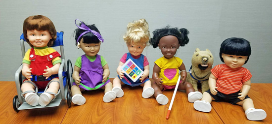 photo of five dolls