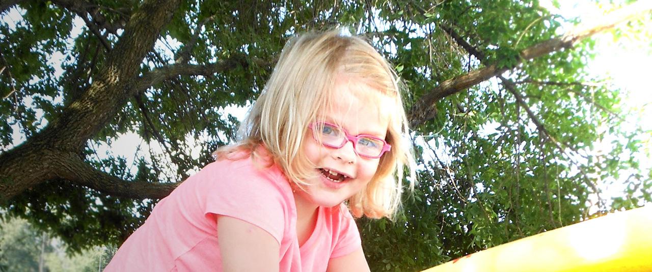 Preschool girl outside