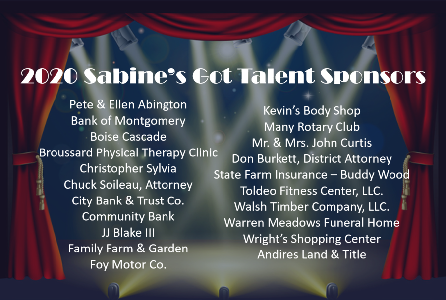 2020 Sabine's Got Talent Sponsors