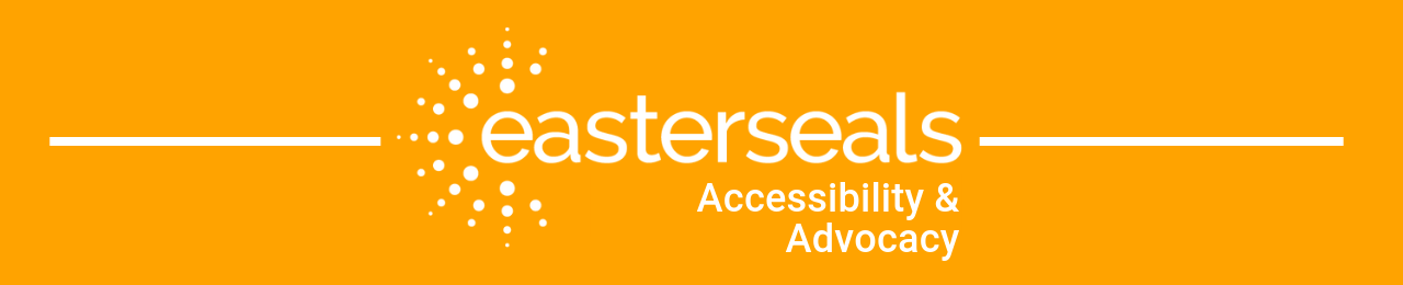 Accessibility and advocacy banner