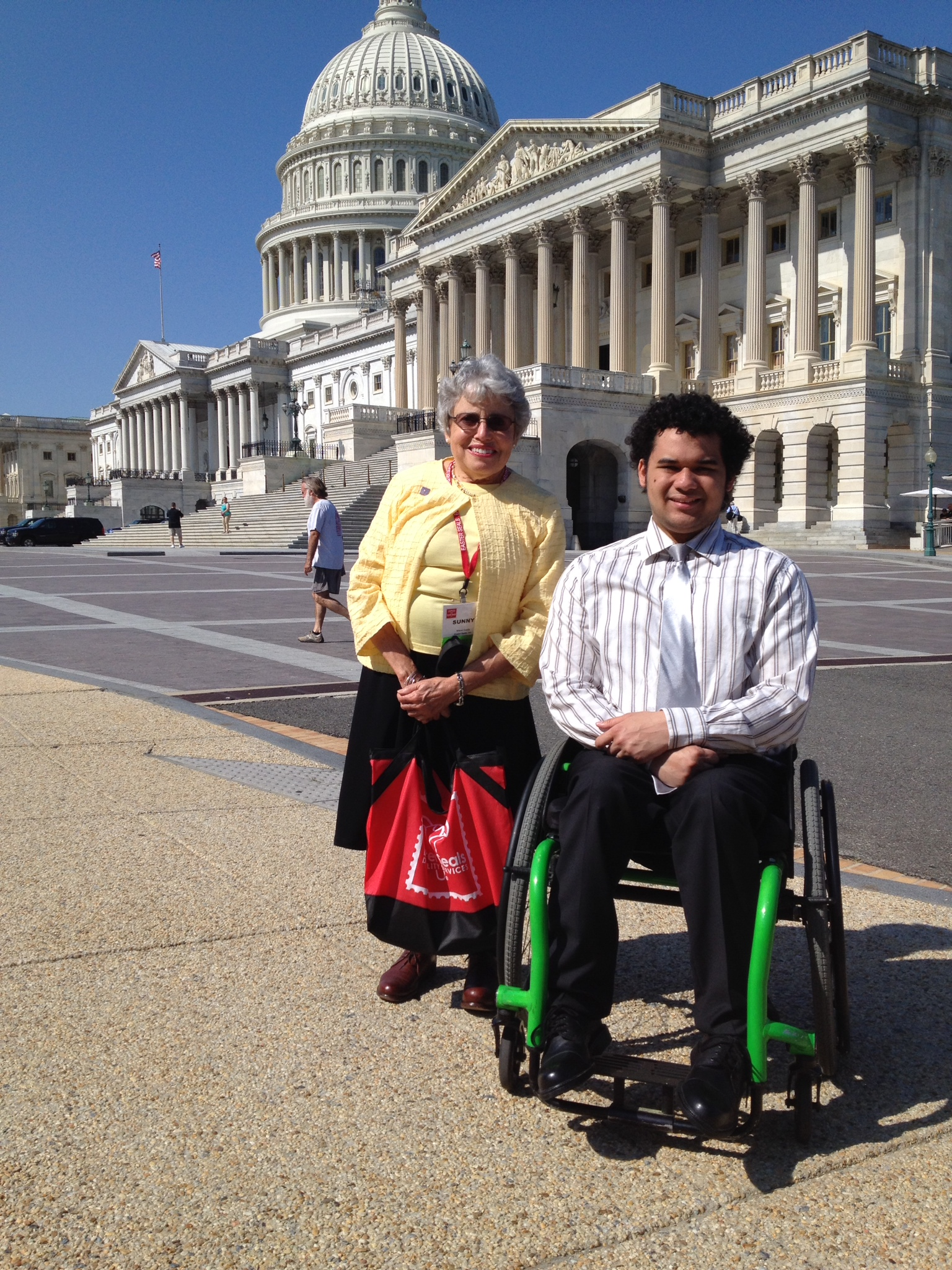 Easter Seals board members Sunny Coady and Dominic in Washington