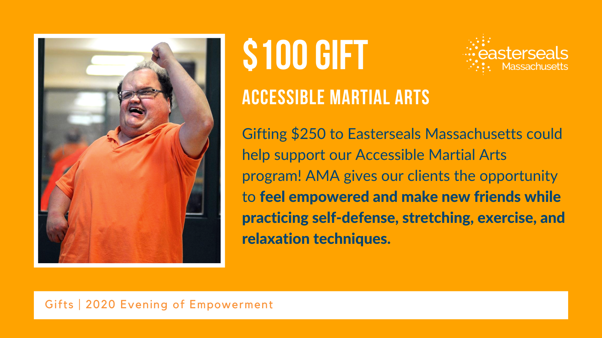 $100 could help operate Accessible Martial Arts