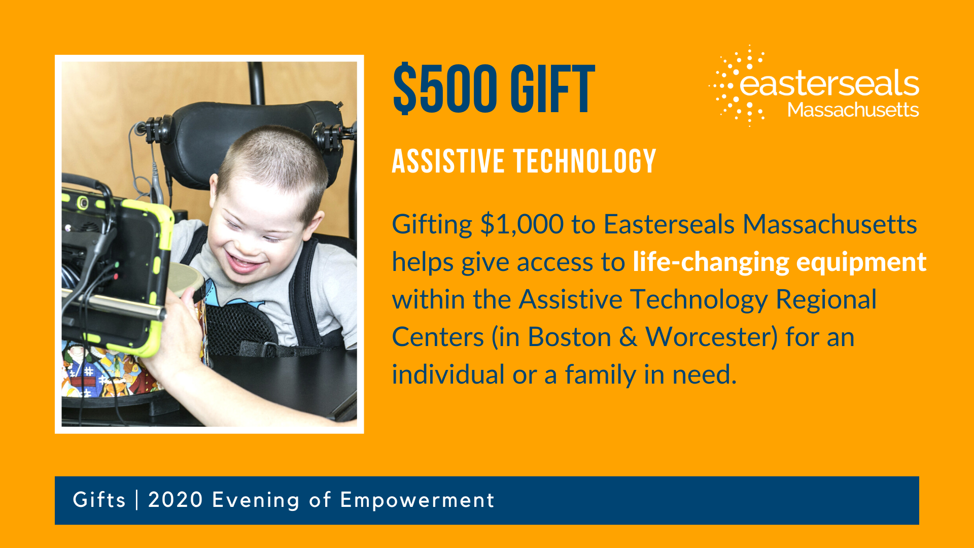 $500 could help give someone with disabilities access to assistive technology