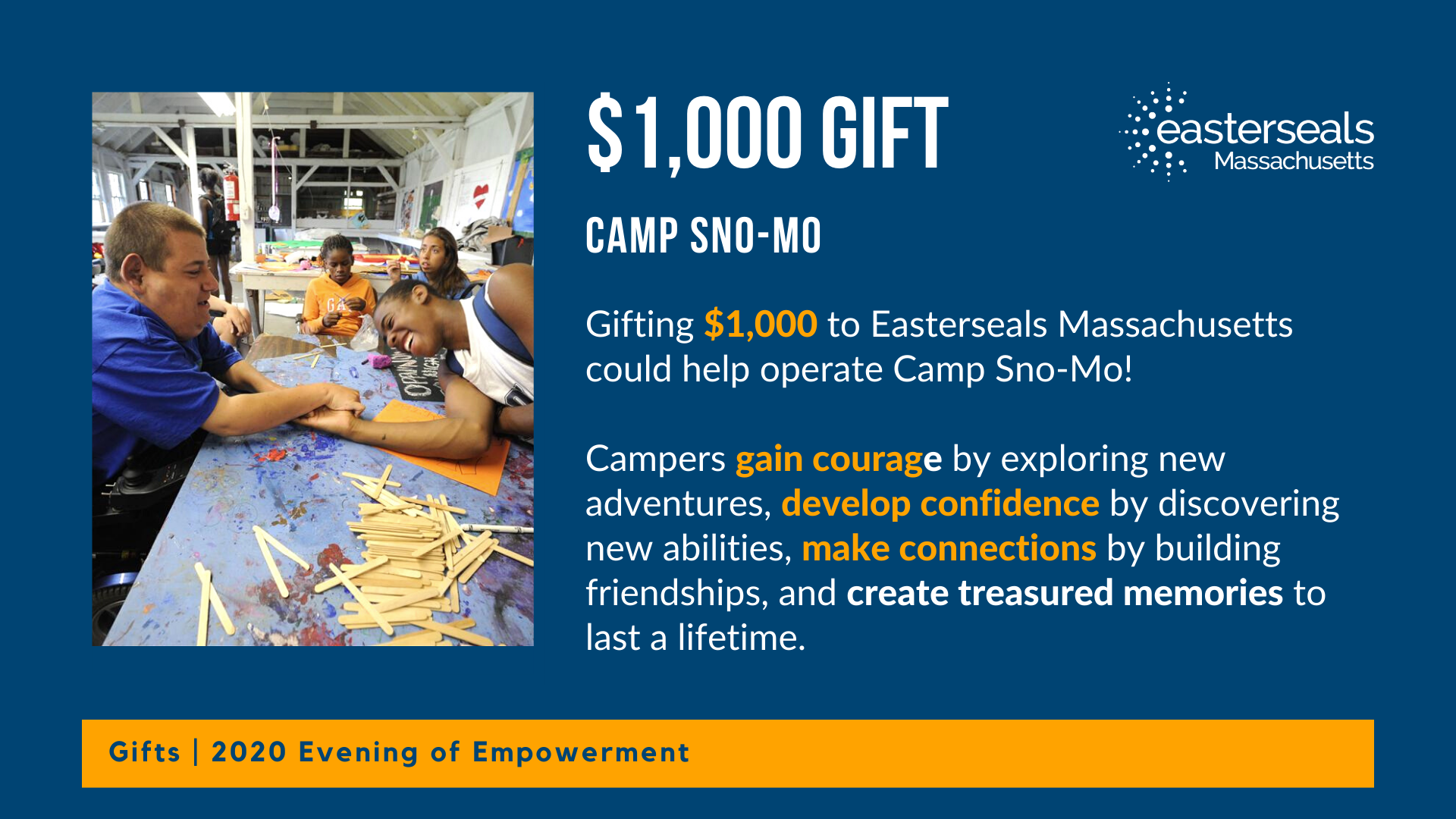 $1,000 could help send youths to camp sno mo