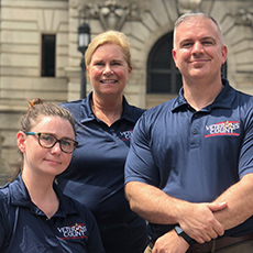 Photo of veterans services staff members