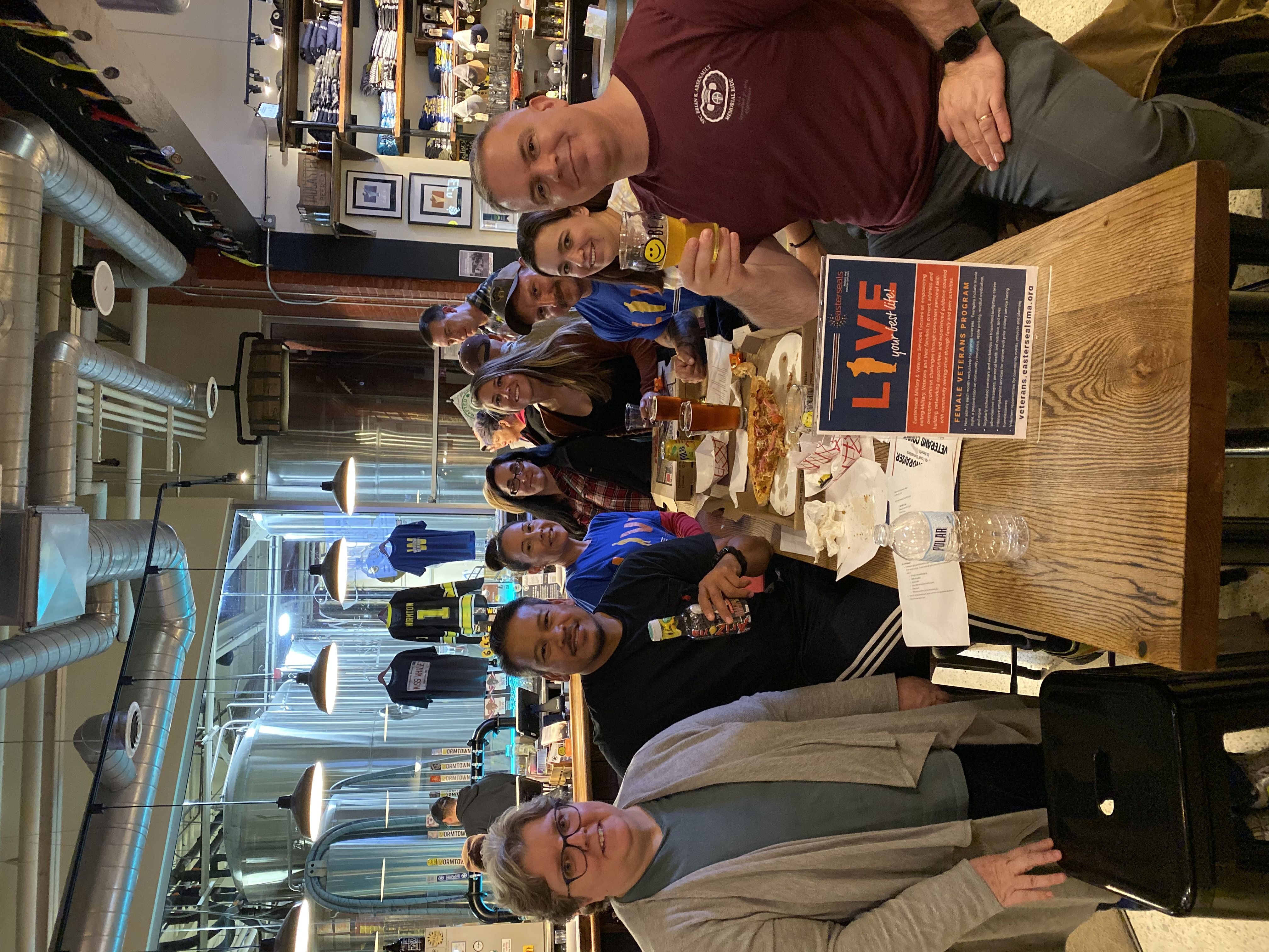 Veterans Count members gather at Wormtown Brewery for their monthly meeting during the Black Ale project.