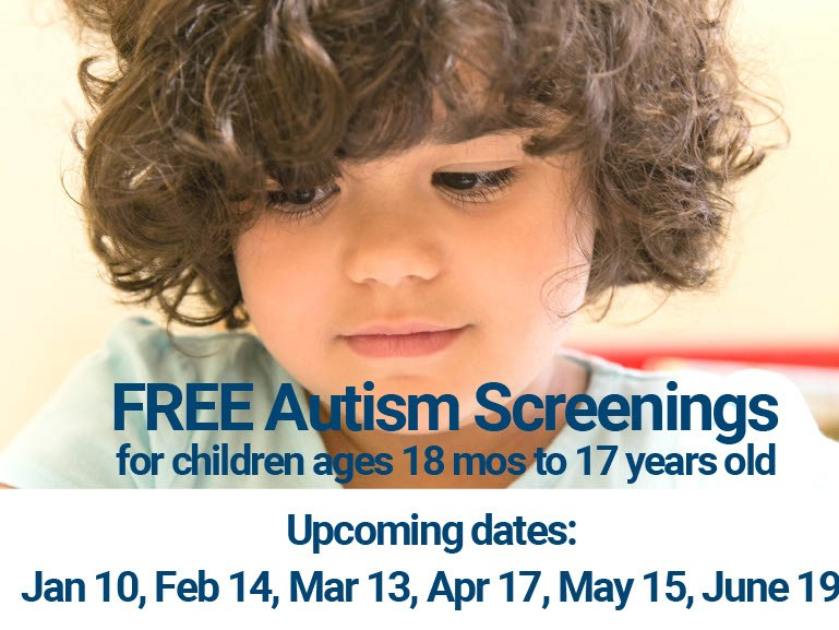 FREE Autism Screening photo and dates
