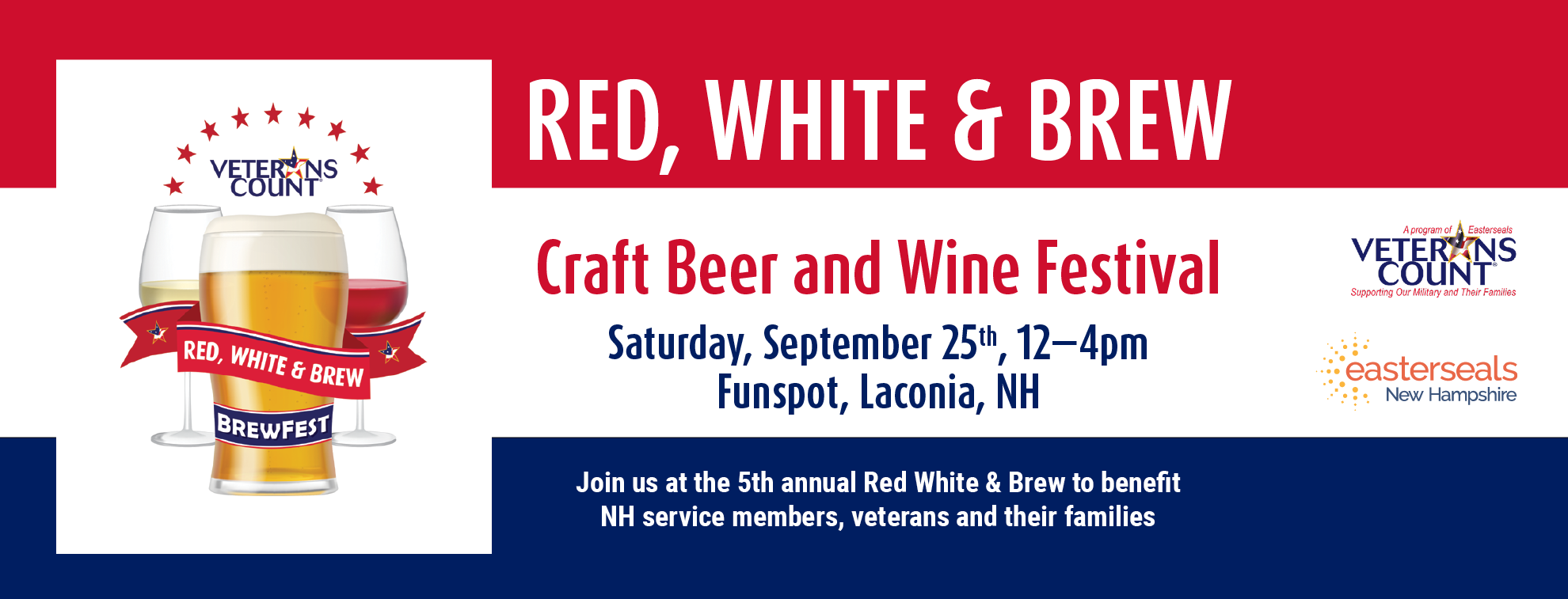Red white and brew banner