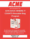Give Back Locally Acme Flyer