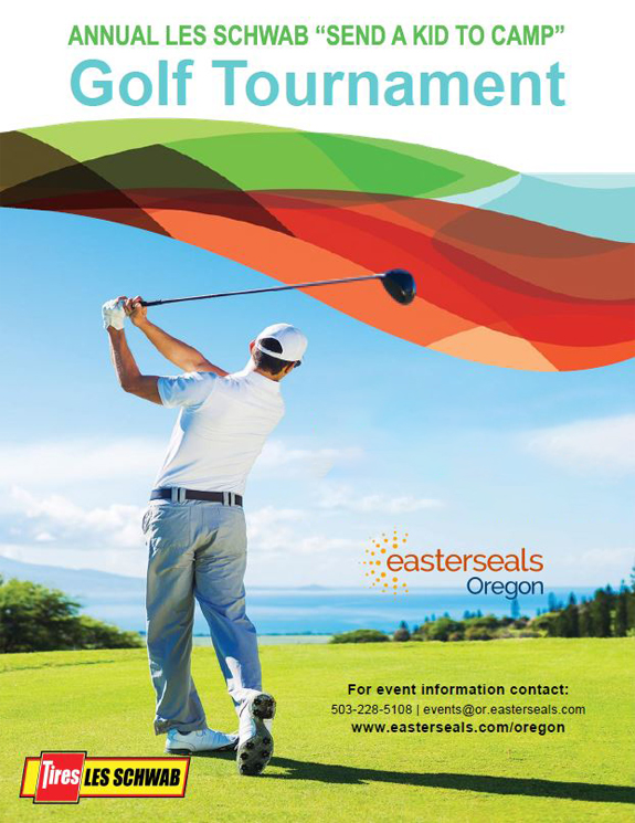 "Ad for annual Easterseals ""Send a Kid to Camp"" Golf Tournament. Click for details."