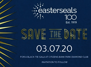 save the date postcard for Gala on March 7 at Citizens Bank Park