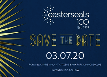 save the date postcard with gala information