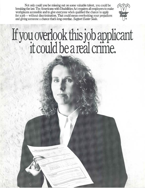 ADA poster on job discrimination