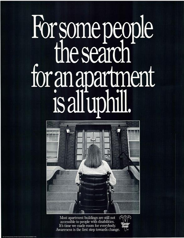 ADA poster on stair accessibility