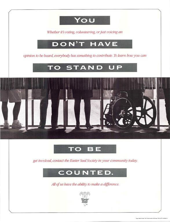 Poster to promote ADA becoming law in 1990
