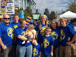 Adelia and her family at their local Buddy Walk