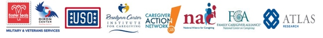 Caregiving webinar partner logos